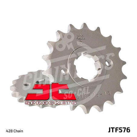 JT Sprockets 428 Front Sprocket Steel 19 Teeth Natural JTF576.19