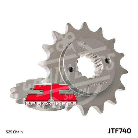 JT Sprockets 525 Front Sprocket Steel 14 Teeth Natural JTF740.14