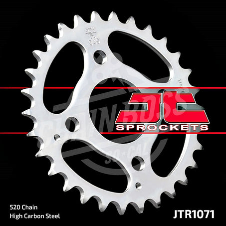 JT Sprockets 520 Rear Sprocket Steel 30 Teeth Silver JTR1071.30 - chainboss