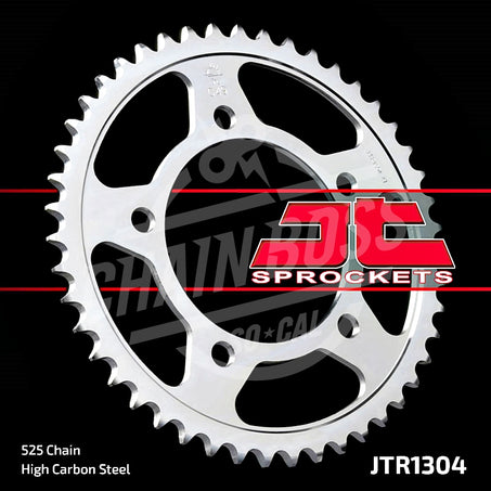 JT Sprockets 525 Rear Sprocket Steel 47 Teeth Silver JTR1304.47 - chainboss