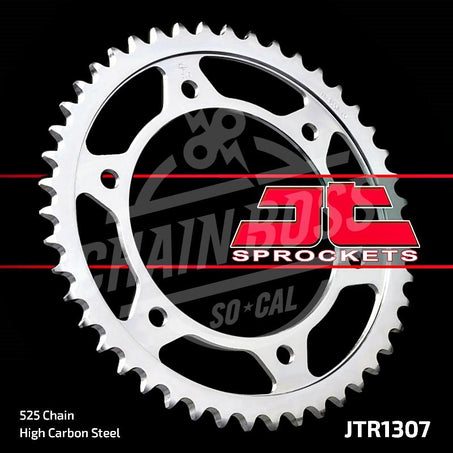 JT Sprockets 525 Rear Sprocket Steel 46 Teeth Silver JTR1307.46