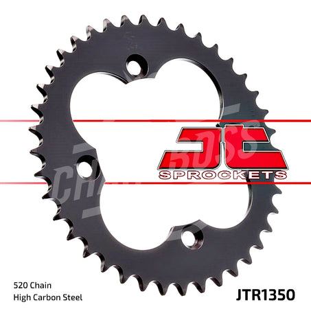 JT Sprockets 520 Rear Sprocket Steel 38 Teeth Black JTR1350.38 - chainboss