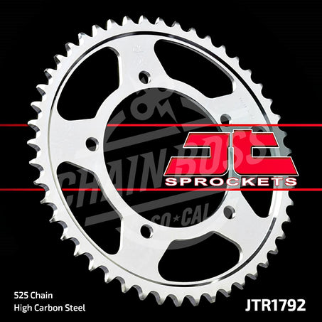 JT Sprockets 525 Rear Sprocket Steel 43 Teeth Silver JTR1792.43 - chainboss
