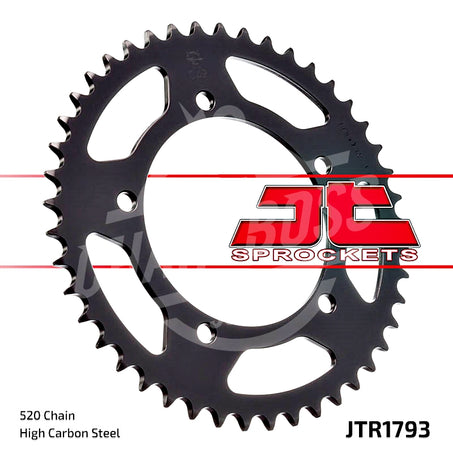 JT Sprockets 520 Rear Sprocket Steel 45 Teeth Black JTR1793.45 - chainboss