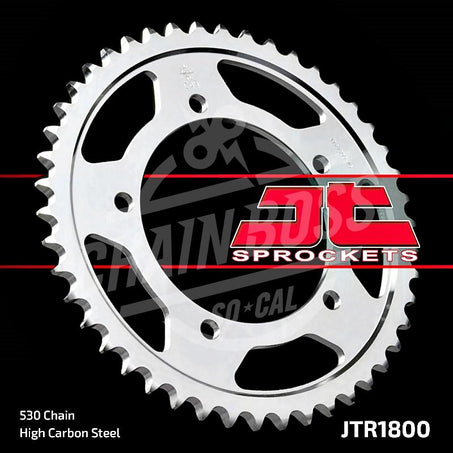 JT Sprockets 530 Rear Sprocket Steel 45 Teeth Silver JTR1800.45