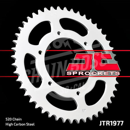 JT Sprockets 520 Rear Sprocket Steel 48 Teeth Silver JTR1977.48