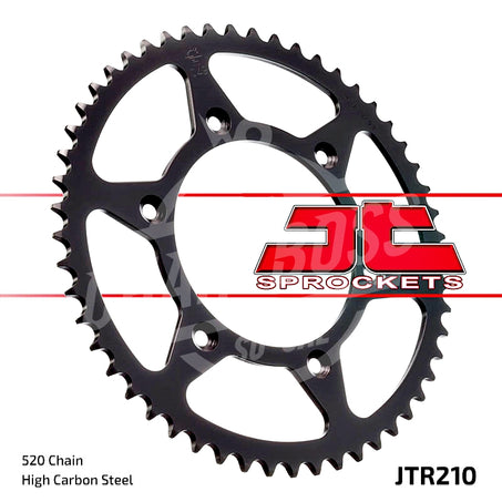 JT Sprockets 520 Rear Sprocket Steel 48 Teeth Silver JTR210.48 - chainboss