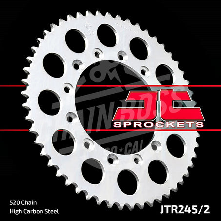 JT Sprockets 520 Rear Sprocket Steel 40 Teeth Silver JTR245/2.40 - chainboss