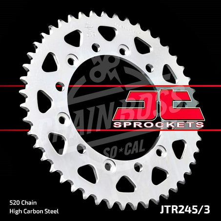 JT Sprockets 520 Rear Sprocket Steel 43 Teeth Silver JTR245/3.43