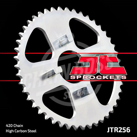 JT Sprockets 420 Rear Sprocket Steel 44 Teeth Silver JTR256.44