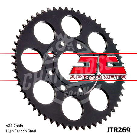 JT Sprockets 428 Rear Sprocket Steel 52 Teeth Black JTR269.52 - chainboss