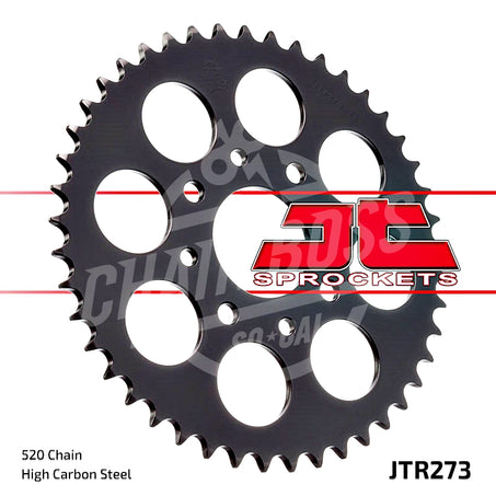 JT Sprockets 520 Rear Sprocket Steel 30 Teeth Black JTR273.30 - chainboss