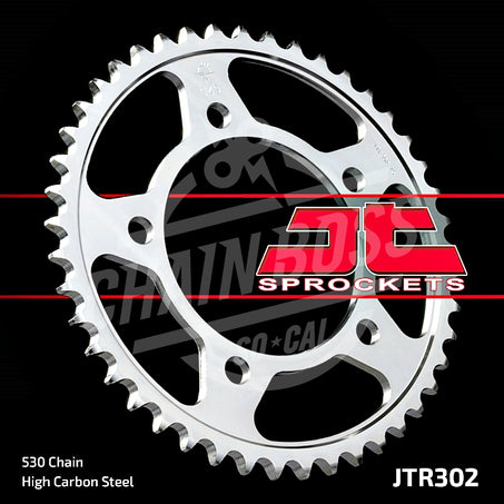 JT Sprockets 530 Rear Sprocket Steel 41 Teeth Silver JTR302.41 - chainboss