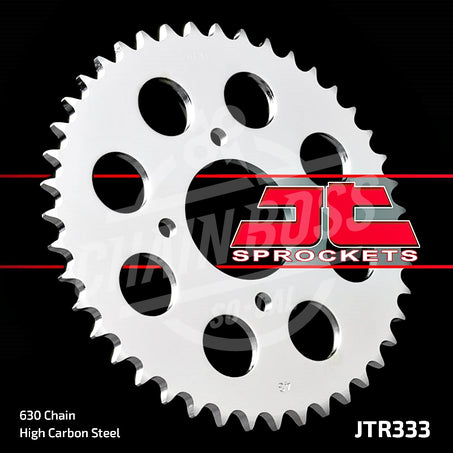JT Sprockets 630 Rear Sprocket Steel 43 Teeth Silver JTR333.43 - chainboss