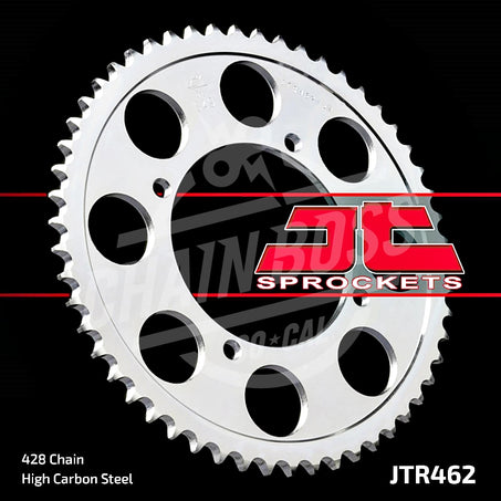 JT Sprockets 428 Rear Sprocket Steel 52 Teeth Silver JTR462.52 - chainboss
