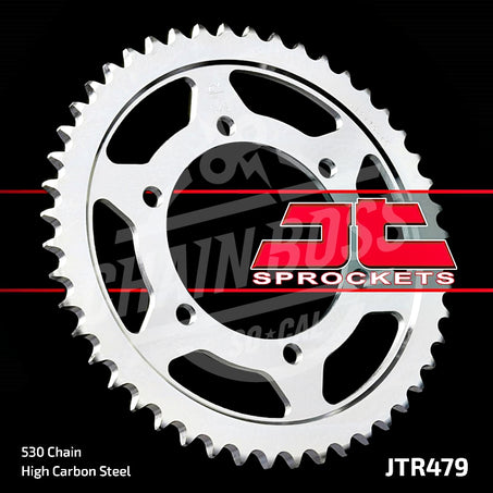 JT Sprockets 530 Rear Sprocket Steel 44 Teeth Silver JTR479.44 - chainboss
