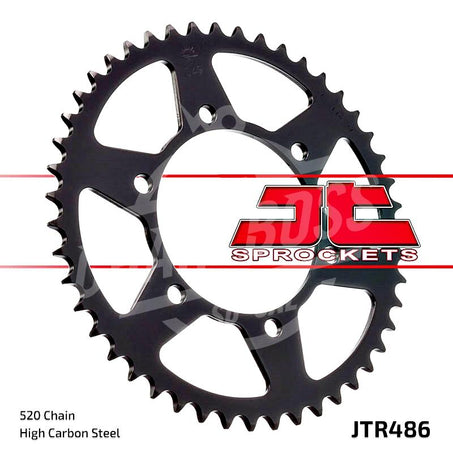 JT Sprockets 520 Rear Sprocket Steel 41 Teeth Black JTR486.41
