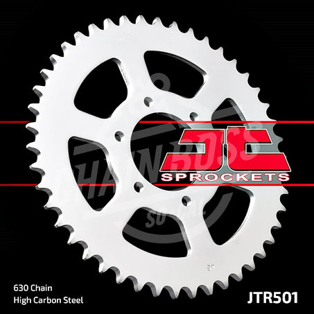 JT Sprockets 630 Rear Sprocket Steel 42 Teeth Silver JTR501.42 - chainboss