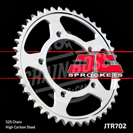 JT Sprockets 525 Rear Sprocket Steel 40 Teeth Silver JTR702.40 - chainboss