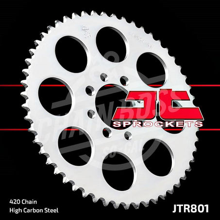 JT Sprockets 420 Rear Sprocket Steel 33 Teeth Silver JTR801.33