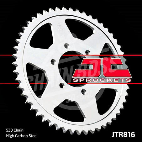 JT Sprockets 530 Rear Sprocket Steel 50 Teeth Silver JTR816.50