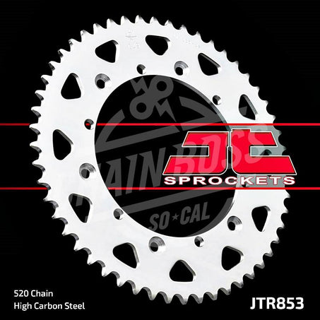 JT Sprockets 520 Rear Sprocket Steel 50 Teeth Silver JTR853.50