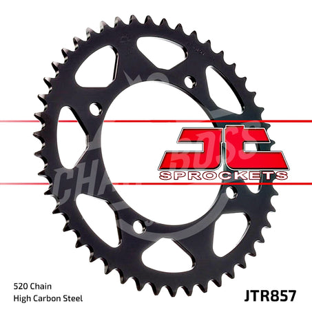 JT Sprockets 520 Rear Sprocket Steel 38 Teeth Silver JTR857.38 - chainboss