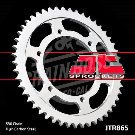 JT Sprockets 530 Rear Sprocket Steel 45 Teeth Silver JTR865.45 - chainboss