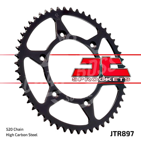 JT Sprockets 520 Rear Sprocket Steel 44 Teeth Black JTR897.44 - chainboss