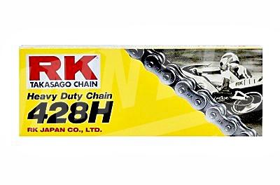 RK Chains 428 x 72 Links HD Standard Series  Non Oring Natural Drive Chain