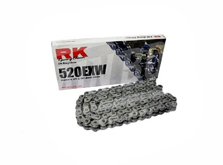 RK Chains 520 x 76 Links EXW Series Xring Sealed Natural Drive Chain