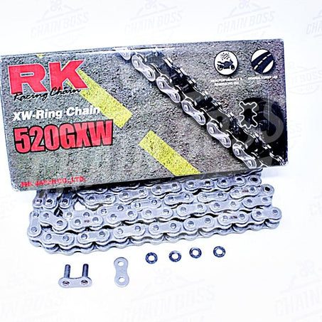 RK Chains 520 x 140 Links GXW Series Xring Sealed Natural Drive Chain
