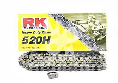 RK Chains 520 x 74 Links HD Standard Series  Non Oring Natural Drive Chain