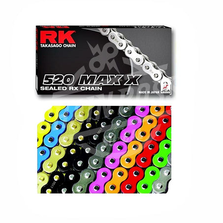 RK Chains 520 x 120 Links MAX X Series Xring Sealed Green Drive Chain