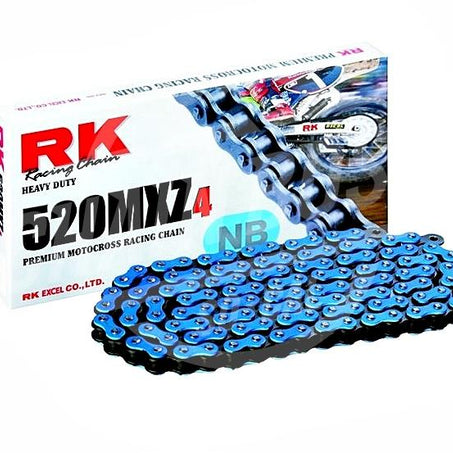 RK Chains 520 x 100 Links MXZ4 Series  Non Oring Blue Drive Chain