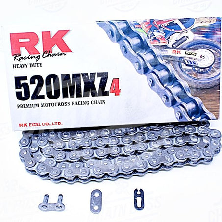 RK Chains 520 x 114 Links MXZ4 Series  Non Oring Natural Drive Chain
