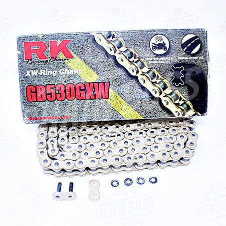 RK Chains 530 x 140 Links GXW Series Xring Sealed Gold Drive Chain