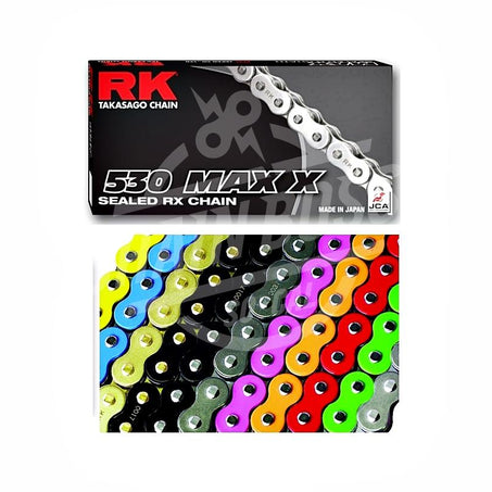 RK Chains 530 x 120 Links MAX X Series Xring Sealed Yellow Drive Chain
