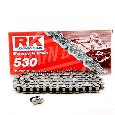 RK Chains 530 x 100 Links Standard Series  Non Oring Natural Drive Chain