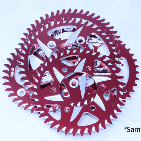 Vortex 525 Rear Sprocket CAT5 Aluminum 38 Teeth Red 848ZR-38