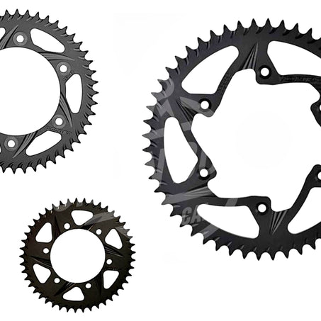Vortex 530 Rear Sprocket F5 Hardcoat Aluminum 50 Teeth Black 438K-50 - chainboss