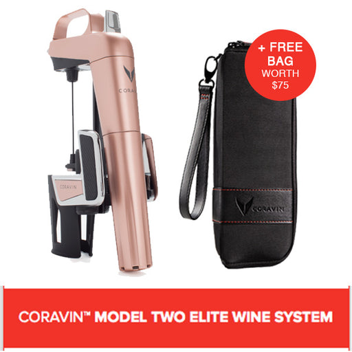 CORAVIN™ MODEL TWO ELITE WINE SYSTEM ROSE GOLD (Includes A Free Bag)