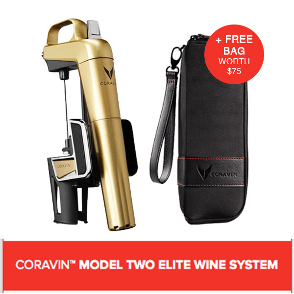 CORAVIN™ MODEL TWO ELITE WINE SYSTEM GOLD (Includes A Free Bag)