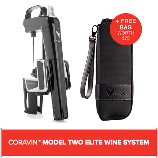 CORAVIN™ MODEL TWO ELITE WINE SYSTEM PIANO BLACK (Includes A Free Bag)