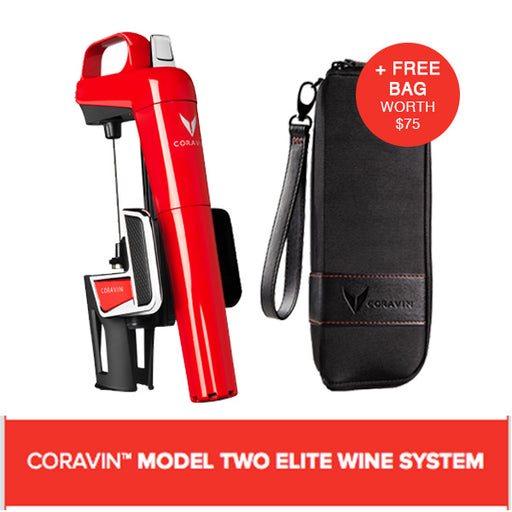 CORAVIN™ MODEL TWO ELITE WINE SYSTEM RED (Includes A Free Bag)