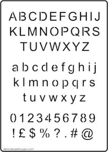 Alphabet and number stencil set