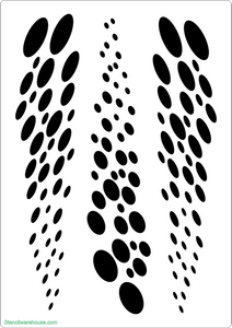 Dots Benday Stencil