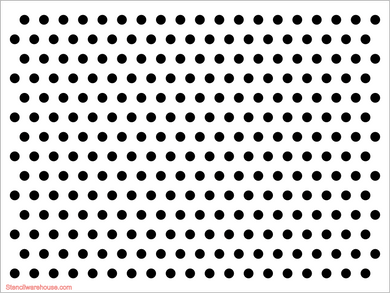 Polka Dot 25mm Holes - Large Stencil
