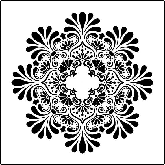 Ceiling Rose Decorative Stencil
