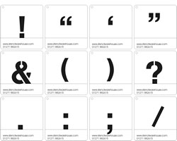 Symbol and Punctuation Stencil set